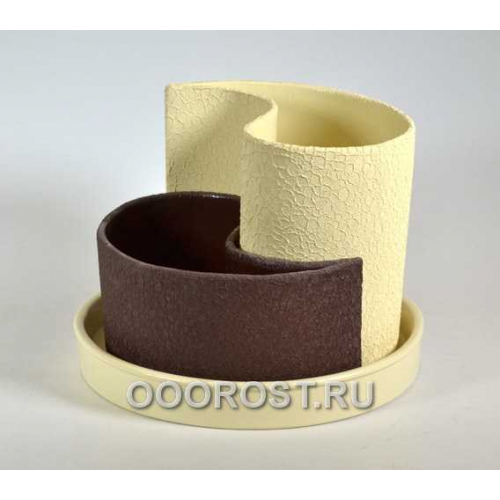 Горшок Капля шелк беж-шоколад  d20см, h 8-15см, 0.7 л, 1.3 л