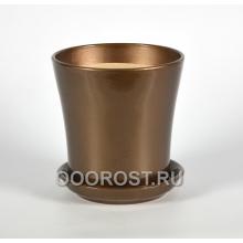 Горшок Вуаль 1,0л (глянец шоколад) d14,5, h14см