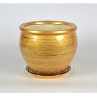 Горшок Вьетнам №2 глянец золото-черный 10л, d30см