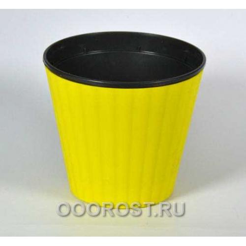 Горшок Ибис с двойным дном 17,9*14,7 желт-черн
