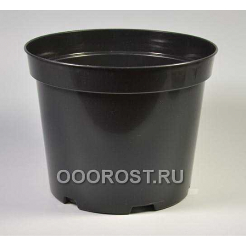 Горшок рассадный круглый SBX10 d27, v10л черный