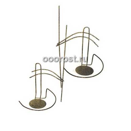 Подставка настенная металлическая Букет на 2 горшка