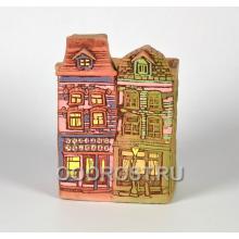 Керамическое кашпо домик Нидерланды № 7 высота 23см, ширина 13*13см, 2л