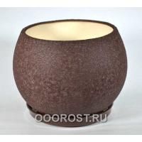 Керамический горшок Шар 9л шелк шоколад d27см, h23см