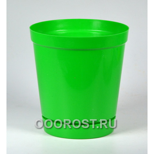 Горшок Глэдис 1,2л зеленый с поддоном