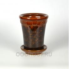 Горшок Альфа №4 коричневый 1.8 л