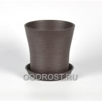 Керамический горшок Вуаль резной крошка шоколад 2.3 л, d18 см, h18 см