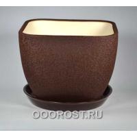 Горшок Ноктюрн №1 (шелк шоколад)  11,5л  d29см