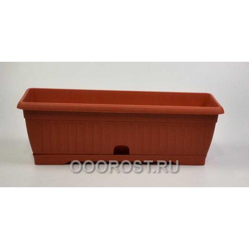 Ящик балконный Терра  80см коричневый