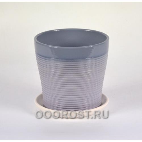 Горшок Пастель черничный тополь №3  d16см, 2,0л