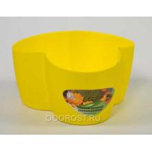 Кашпо кактусник на 3 места темно-желтый