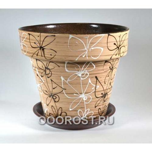 Керамический горшок Витраж 7л, d27см, h25см
