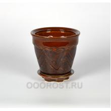 Горшок Арго №3 коричневый 1.2 л