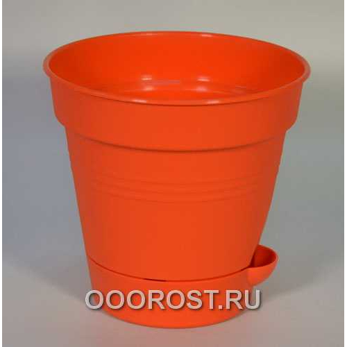 Горшок Глория с нижн. поливом d16 оранж