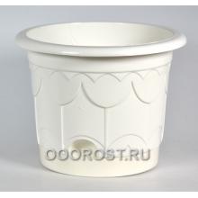 Горшок Тюльпан d10см белый с поддоном