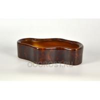 Керамическое кашпо-кактусник Озеро коричневый d33*19 см