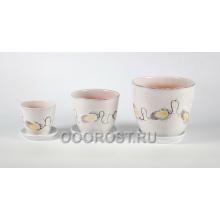 Комплект из 3 горшков Тюльпан-Колючка    2,5л, 1л, 0,4л