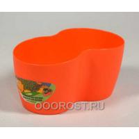 Кашпо кактусник на 2 места оранжевый