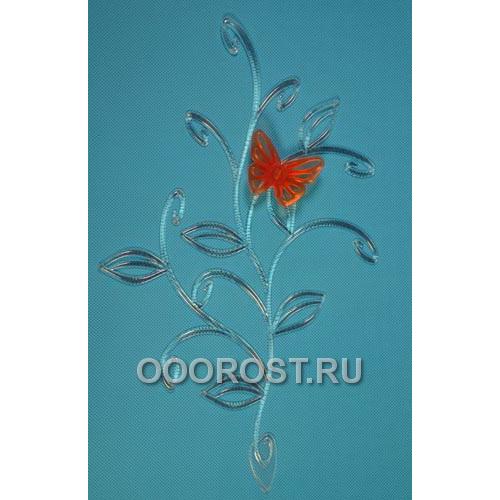 Держатель Бабочка на ветке (прозрачно-оранж)