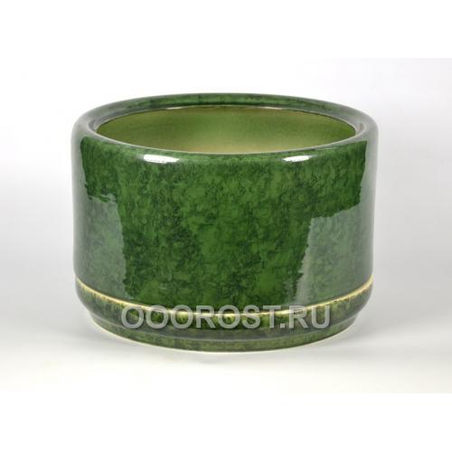 Горшок Цилиндр  мал  31л d 42, h 22 зеленый