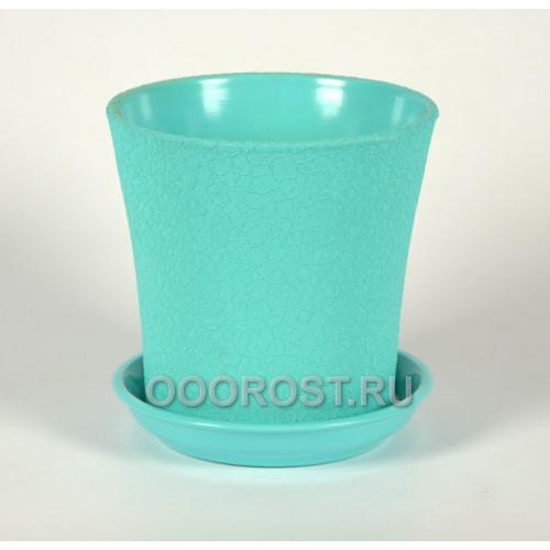 Керамический горшок Вуаль 2,3л шелк бирюза d18, h18см