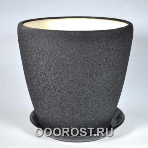 Горшок Грация 20л (шелк черный) d33см, h31см