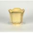 Керамическое кашпо Готика №3 белое 1.4л, d16см, h15,5см