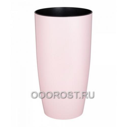 Вазон Альфа d16см, h30см светло-розовый