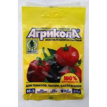Удобрение минеральное Агрикола-3 50гр (томат,перец)