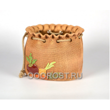 Кашпо Мешок большой с верёвкой овощи h22см, d29*25 см, 8л