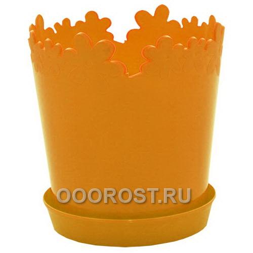 Горшок Лютик d17см h18 v2л оранж с под