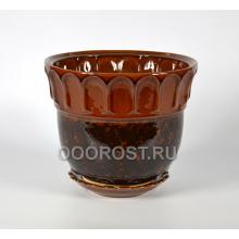Горшок Лето №1 (коричневый)  8л, d28см,  h25см