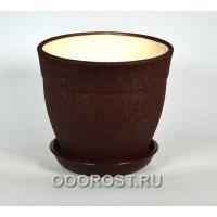 Горшок Флорис №3 (шелк шоколад) 3,5л