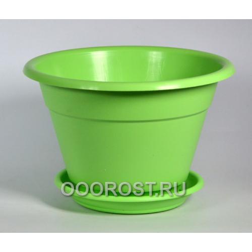 Горшок Конус 2,7л салатовый с поддоном