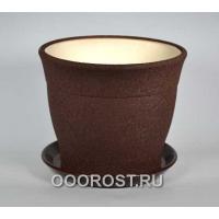 Горшок Флорис №2 (шелк шоколад) 5,5л