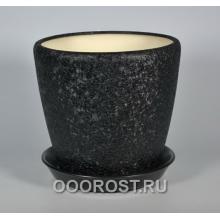 Горшок Грация №2 4,5л d 20см (шелк черн.)