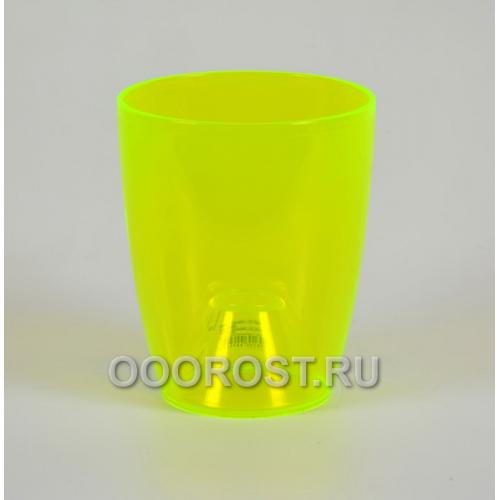 Кашпо Орхидея d12см, h14см ультра зеленый