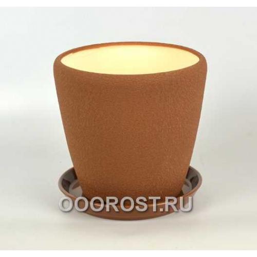 Керамический горшок Грация №2 шелк молочный шоколад 4,5л d 20см