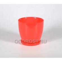 Горшок стеклянный Джина №2 крашеный Коралл с поддоном d13,5см, h12,5см