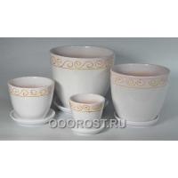 Комплект Невеста розовая из 4-х горшков    5л, 2,5л, 1л, 0,4л