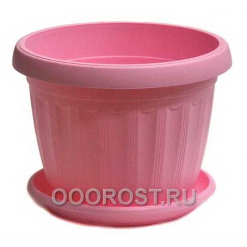 Горшок Терра d10 розовый