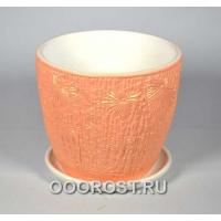 Горшок Бамбук оранжевый №3 d17,5см, h16см