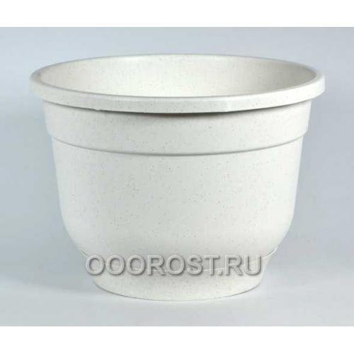 Горшок Флокс 2,5л мраморный с поддоном