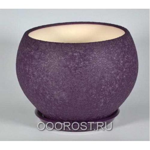 Горшок Шар №1  (шелк фиолет)  4,1л  d23см