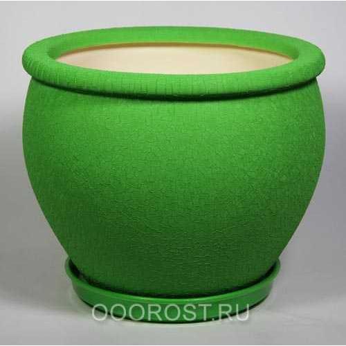 Горшок Вьетнам №1 (Шелк зеленый) 18л, d37,5см