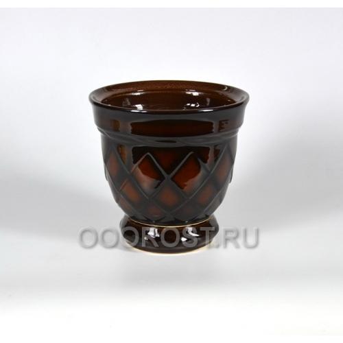 Горшок Ромб №3коричневый 4л, d20см, h21см