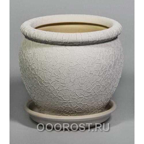 Горшок Вьетнам №4 (шелк белый) 1,5л, d17см