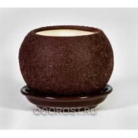 Горшок Шар №3  (шелк шоколад.)  0,4л  d11см
