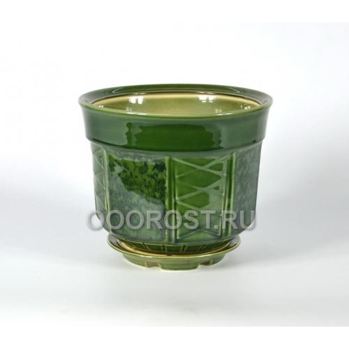 Горшок Дельта №2 зеленый 8л, d29см, h22см