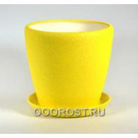 Горшок Грация №2 (шелк желтый) 4,5л d 20см